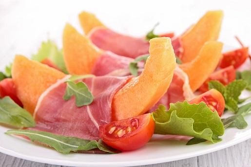 meleone with tuscan ham